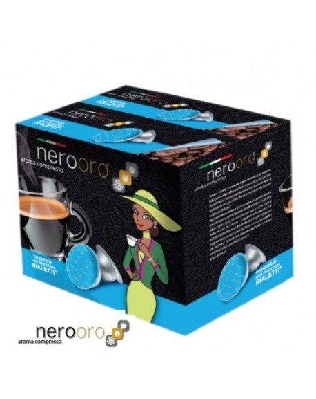 400 Capsule Caffè Nerooro Bialetti Miscela ORO