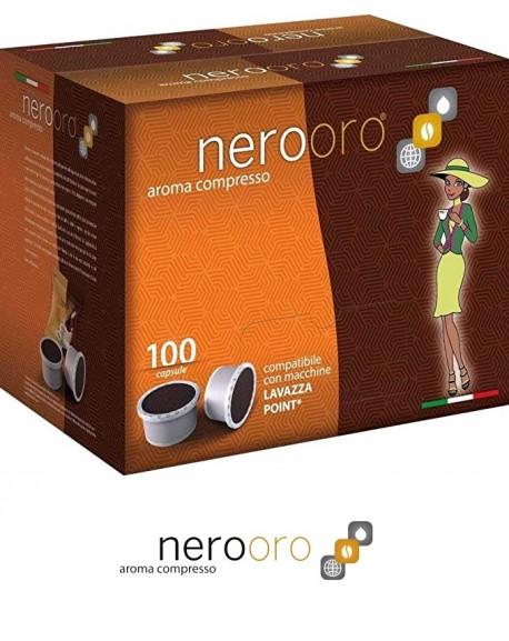 100 Capsule Caffè Nerooro Espresso Point Miscela Oro
